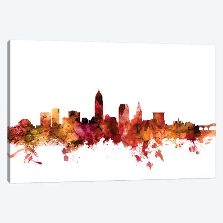 Cleveland, Ohio Skyline Canvas Print #MTO1293} by Michael Tompsett Art Print