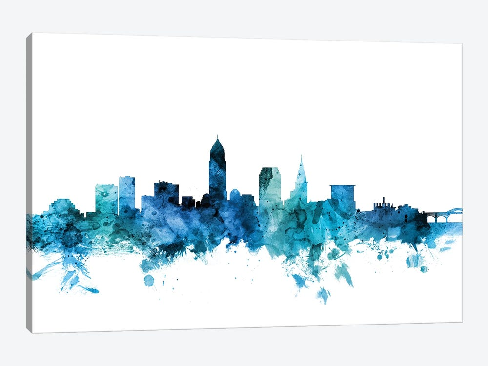 Cleveland, Ohio Skyline 1-piece Canvas Print
