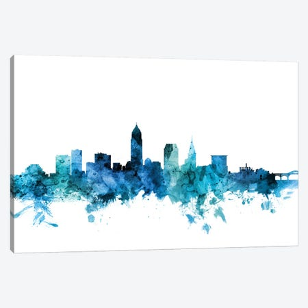 Cleveland, Ohio Skyline Canvas Print #MTO1294} by Michael Tompsett Canvas Artwork