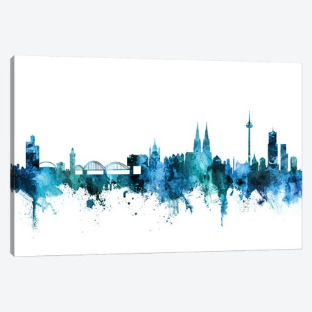 Cologne, Germany Skyline Canvas Print #MTO1295} by Michael Tompsett Canvas Wall Art