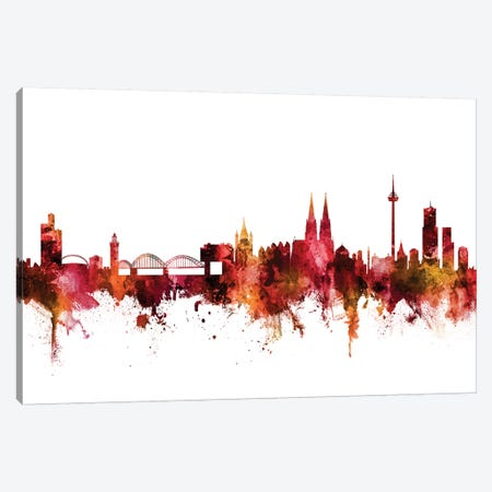 Cologne, Germany Skyline Canvas Print #MTO1296} by Michael Tompsett Canvas Artwork