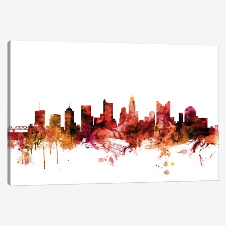 Columbus, Ohio Skyline Canvas Print #MTO1297} by Michael Tompsett Canvas Artwork