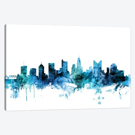 Columbus, Ohio Skyline Canvas Print #MTO1298} by Michael Tompsett Canvas Art Print