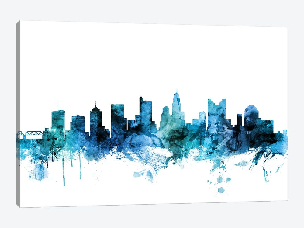 Columbus, Ohio Skyline by Michael Tompsett 1-piece Art Print