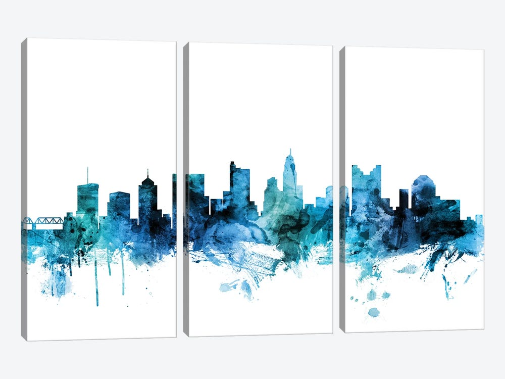 Columbus, Ohio Skyline by Michael Tompsett 3-piece Art Print