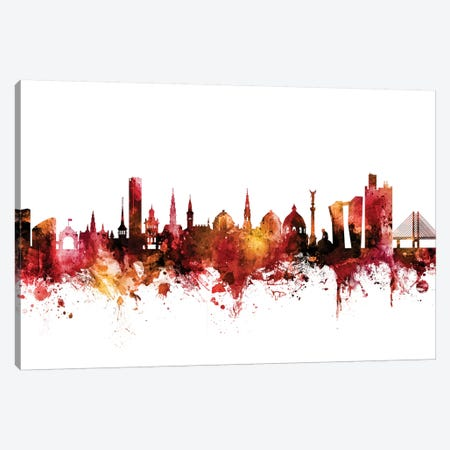 Copenhagen, Denmark Skyline Canvas Print #MTO1299} by Michael Tompsett Canvas Art Print