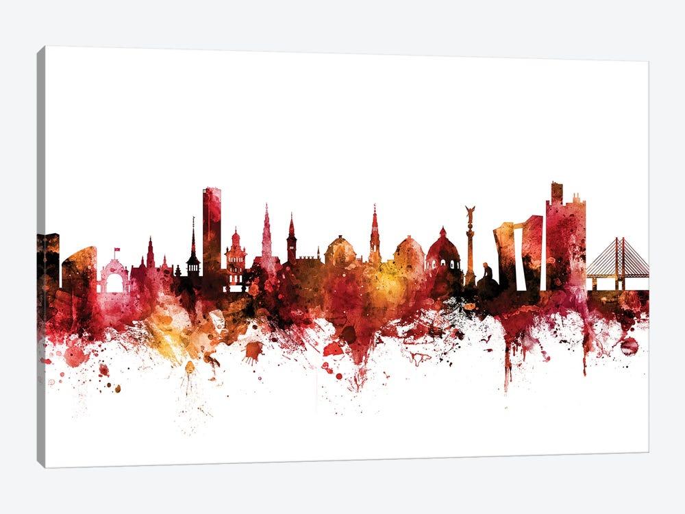 Copenhagen, Denmark Skyline by Michael Tompsett 1-piece Canvas Artwork