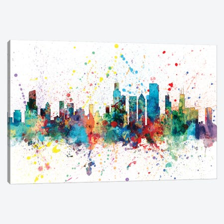 Chicago, Illinois, USA Canvas Print #MTO129} by Michael Tompsett Canvas Artwork