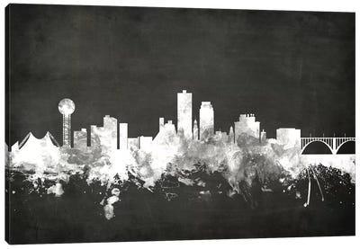 Blackboard Skyline Series: Knoxville, Tennessee, USA Canvas Art Print
