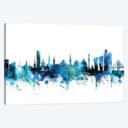 Copenhagen, Denmark Skyline Canvas Print #MTO1300} by Michael Tompsett Canvas Art Print