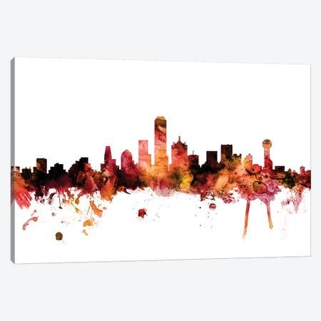 Dallas, Texas Skyline Canvas Print #MTO1305} by Michael Tompsett Canvas Artwork