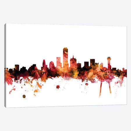 Dallas, Texas Skyline Canvas Print #MTO1305} by Michael Tompsett Canvas Artwork