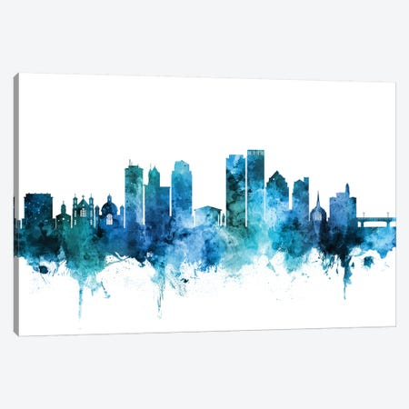 Dayton, Ohio Skyline Canvas Print #MTO1307} by Michael Tompsett Canvas Artwork