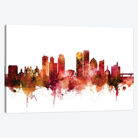 Dayton, Ohio Skyline Canvas Print #MTO1308} by Michael Tompsett Canvas Print