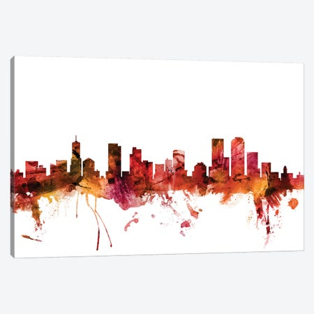 Denver, Colorado Skyline Canvas Print #MTO1309} by Michael Tompsett Canvas Print