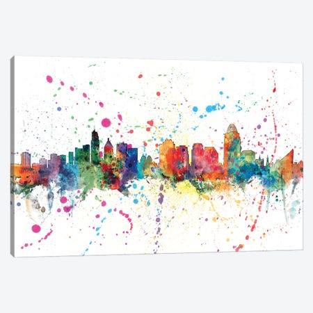 Cincinnati, Ohio, USA Canvas Print #MTO130} by Michael Tompsett Art Print