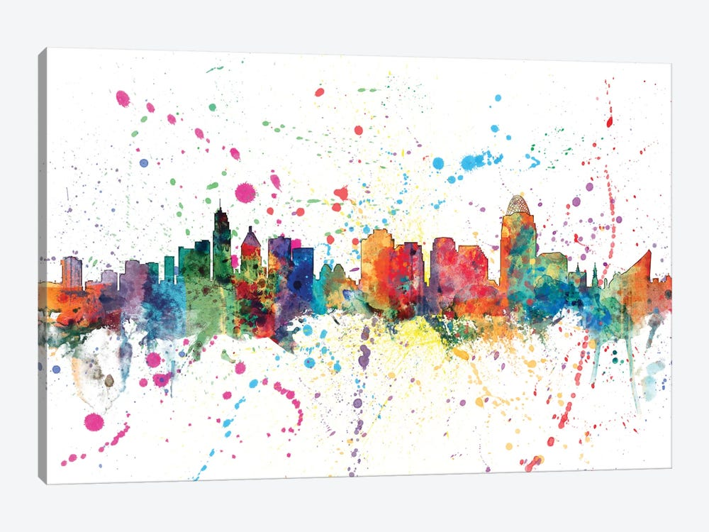 Cincinnati, Ohio, USA by Michael Tompsett 1-piece Canvas Art Print