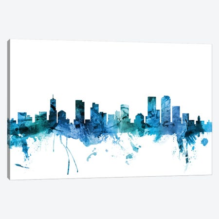 Denver, Colorado Skyline Canvas Print #MTO1310} by Michael Tompsett Canvas Artwork