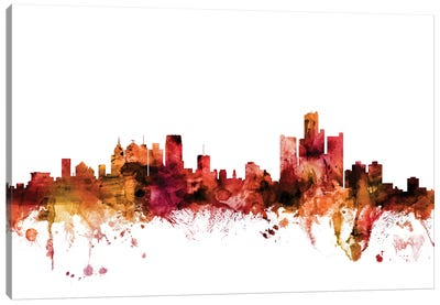 Detroit, Michigan Skyline Canvas Art Print