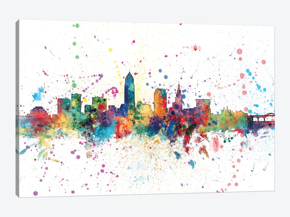 Cleveland, Ohio, USA by Michael Tompsett 1-piece Canvas Artwork