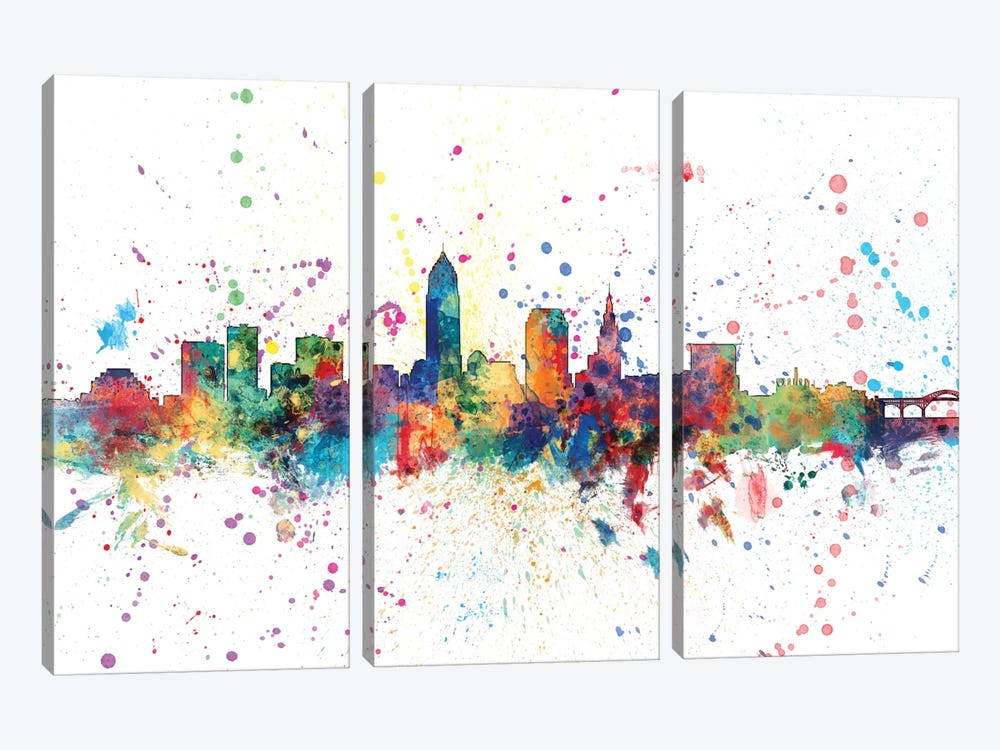 Cleveland, Ohio, USA by Michael Tompsett 3-piece Canvas Artwork