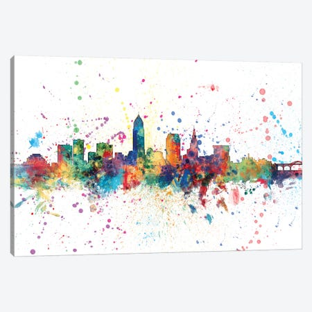 Cleveland, Ohio, USA Canvas Print #MTO131} by Michael Tompsett Art Print