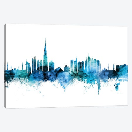 Dubai, UAE Skyline Canvas Print #MTO1321} by Michael Tompsett Canvas Art Print
