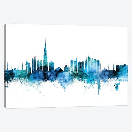 Dubai, UAE Skyline Canvas Print #MTO1321} by Michael Tompsett Canvas Art Print