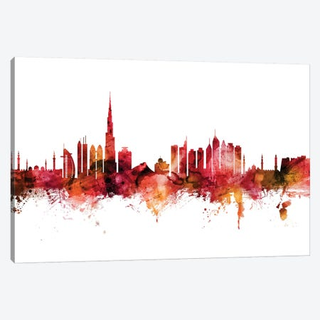 Dubai, UAE Skyline Canvas Print #MTO1322} by Michael Tompsett Canvas Art Print