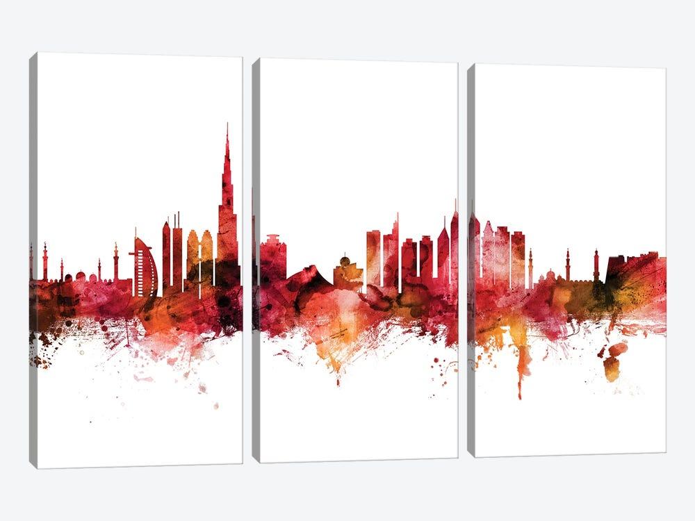 Dubai, UAE Skyline by Michael Tompsett 3-piece Canvas Art Print