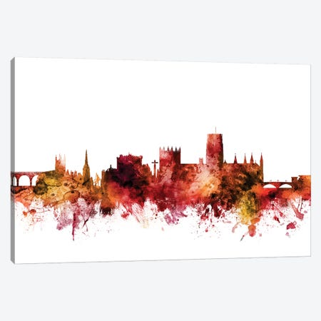 Durham, England Skyline Cityscape Canvas Print #MTO1326} by Michael Tompsett Canvas Artwork
