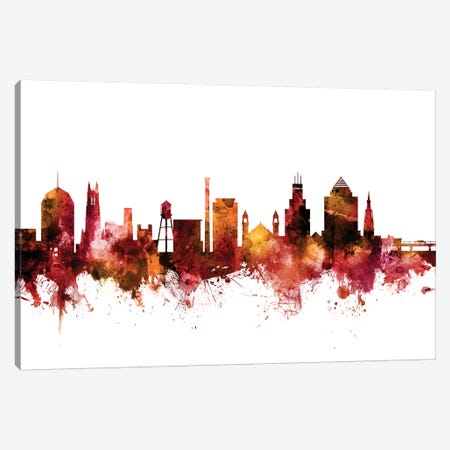 Durham, North Carolina Skyline Canvas Print #MTO1328} by Michael Tompsett Art Print