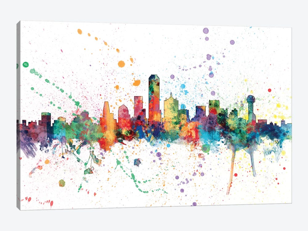 Dallas, Texas, USA by Michael Tompsett 1-piece Canvas Art Print
