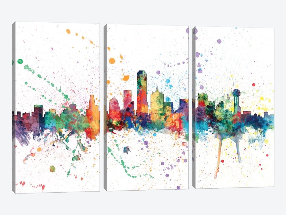 Dallas, Texas, USA by Michael Tompsett 3-piece Canvas Art Print
