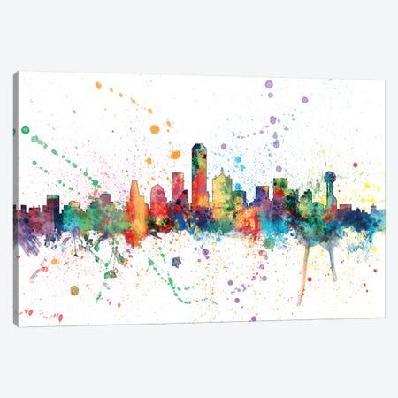 Dallas, Texas, USA 3-Piece Canvas #MTO132} by Michael Tompsett Canvas Print