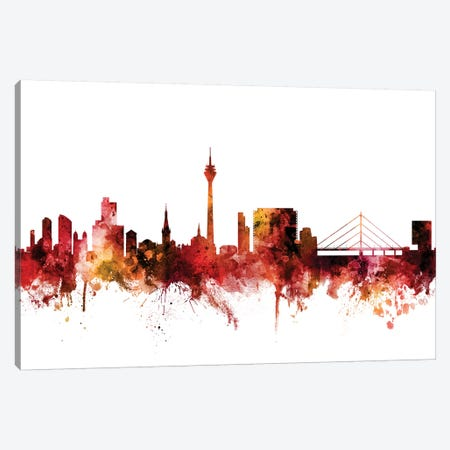 Düsseldorf, Germany Skyline Canvas Print #MTO1330} by Michael Tompsett Canvas Art