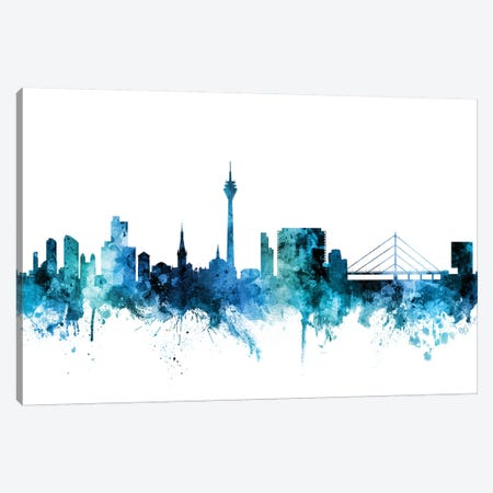 Düsseldorf, Germany Skyline Canvas Print #MTO1331} by Michael Tompsett Canvas Wall Art