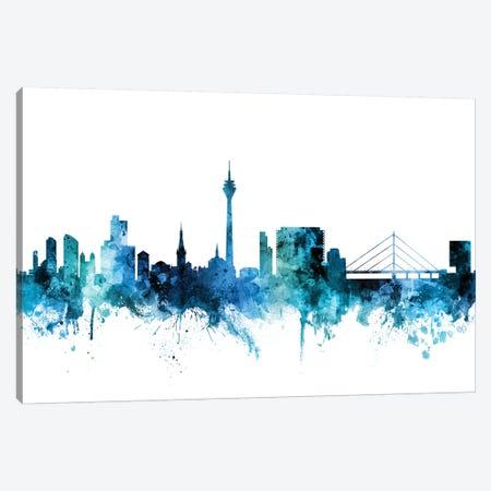 Düsseldorf, Germany Skyline Canvas Print #MTO1331} by Michael Tompsett Canvas Wall Art