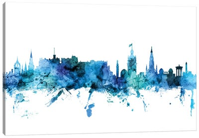 Edinburgh, Scotland Skyline Canvas Art Print