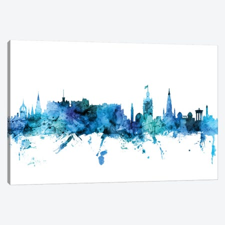 Edinburgh, Scotland Skyline Canvas Print #MTO1332} by Michael Tompsett Canvas Artwork