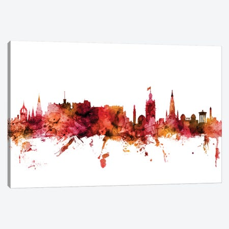 Edinburgh, Scotland Skyline Canvas Print #MTO1333} by Michael Tompsett Canvas Art