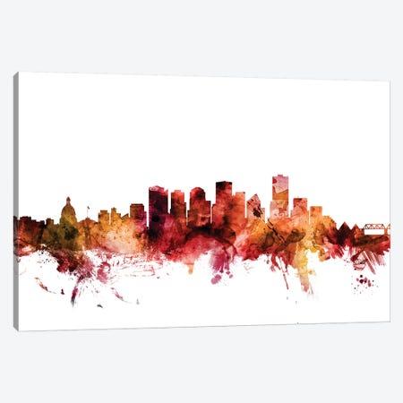 Edmonton, Canada Skyline Canvas Print #MTO1334} by Michael Tompsett Canvas Print