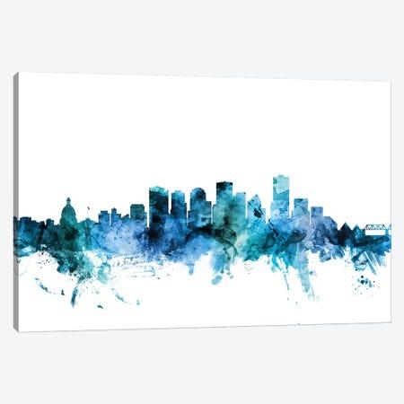 Edmonton, Canada Skyline Canvas Print #MTO1335} by Michael Tompsett Art Print
