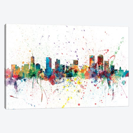 Denver, Colorado, USA Canvas Print #MTO133} by Michael Tompsett Art Print