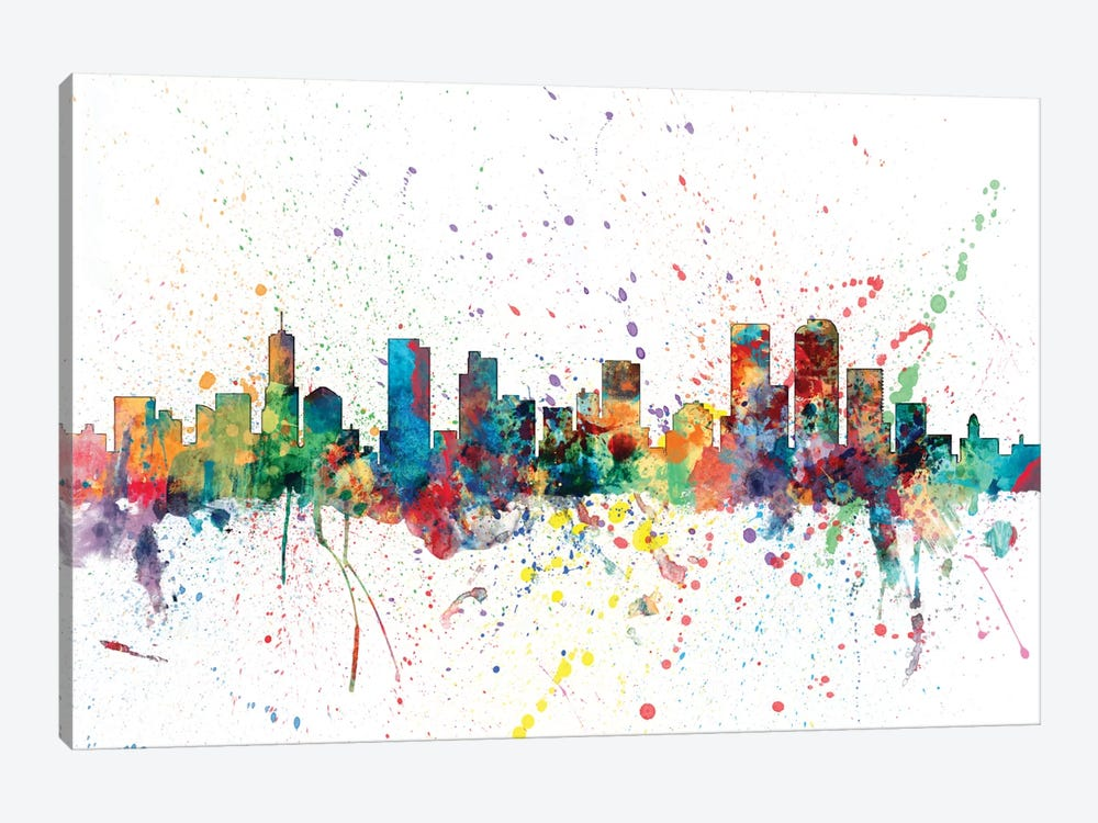 Denver, Colorado, USA by Michael Tompsett 1-piece Canvas Wall Art