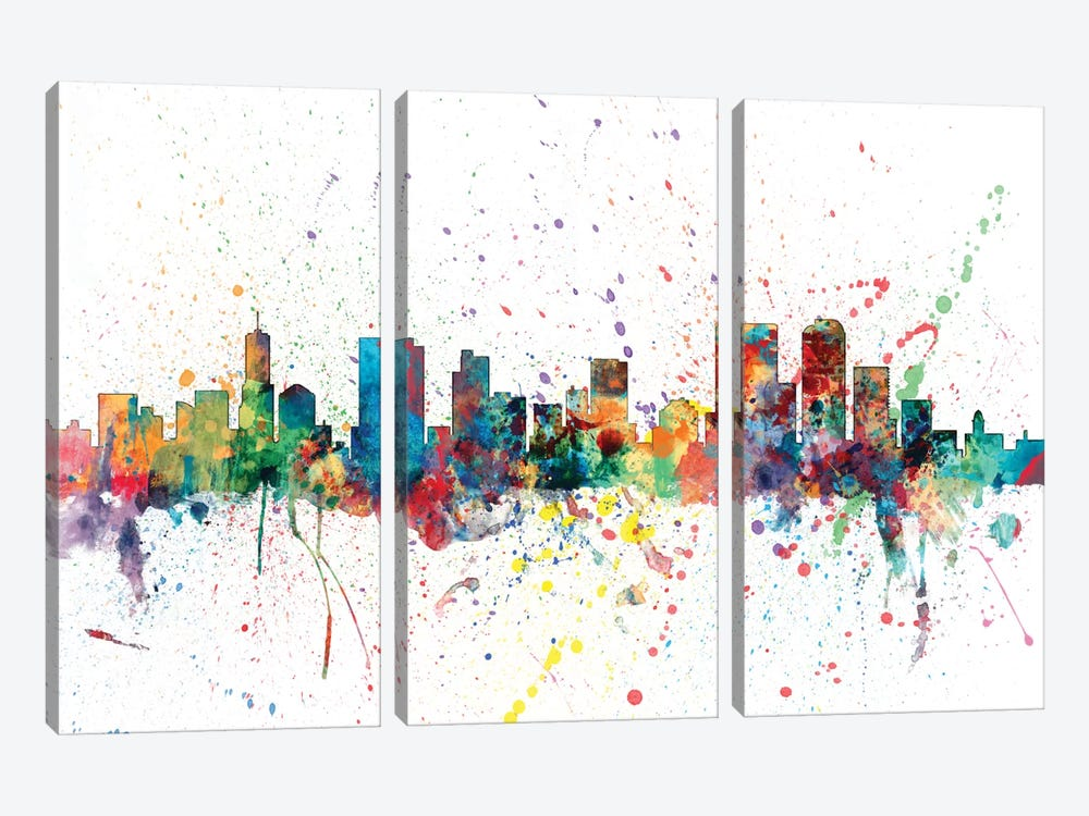 Denver, Colorado, USA by Michael Tompsett 3-piece Canvas Art
