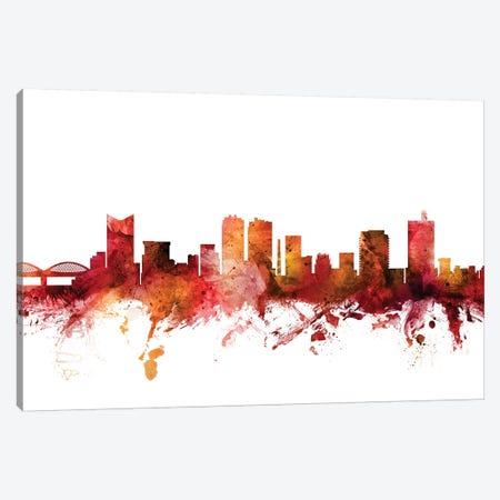 Fort Worth, Texas Skyline Canvas Print #MTO1348} by Michael Tompsett Art Print