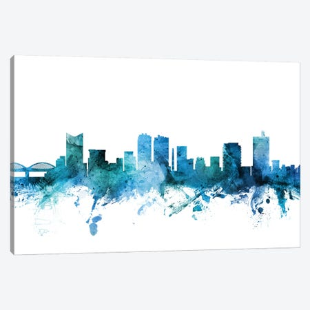 Fort Worth, Texas Skyline Canvas Print #MTO1349} by Michael Tompsett Canvas Print