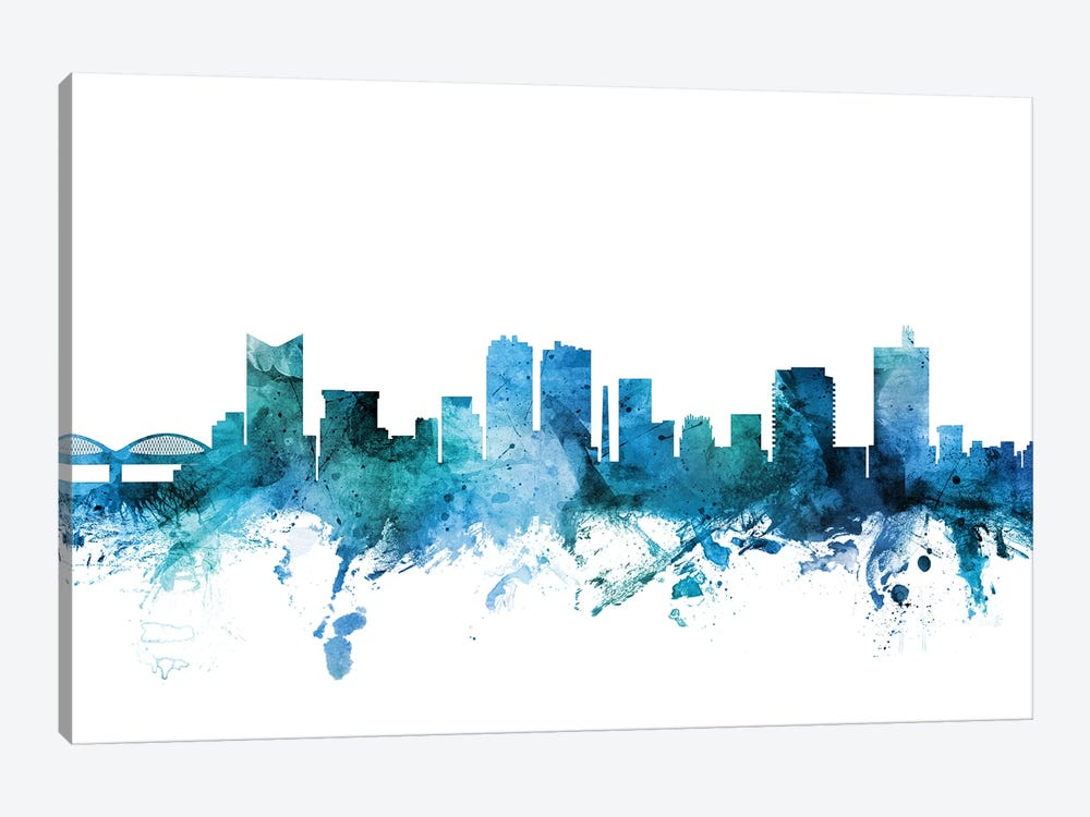 Fort Worth, Texas Skyline by Michael Tompsett 1-piece Canvas Artwork