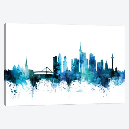 Frankfurt, Germany Skyline Canvas Print #MTO1350} by Michael Tompsett Canvas Wall Art